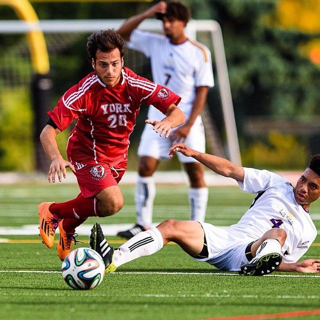 Let's play ⚽️! Great photo shared by @yorkulions today with photo cred to Lawrence Ho. #Soccer #LionPride #YorkU