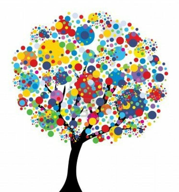 Abstract Multicolor Tree, Symbol Of Nature Royalty Free Cliparts, Vectors, And Stock Illustration. Image 8879627.