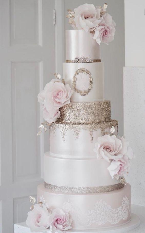 Empfohlener Kuchen: Baumwolle & Krümel; www.cottonandcrum …; Hochzeitstorte Id …  – Yummy Kuchen