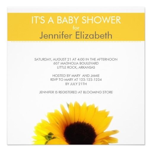 276 best sunflower baby shower invitations images on pinterest, Baby shower invitations