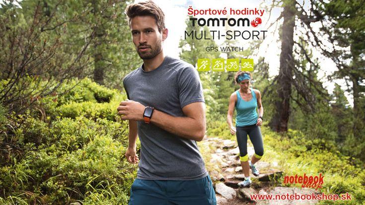 Športové hodinky Tomtom s GPS na beh, cyklistiku, plávanie alebo do prírody.