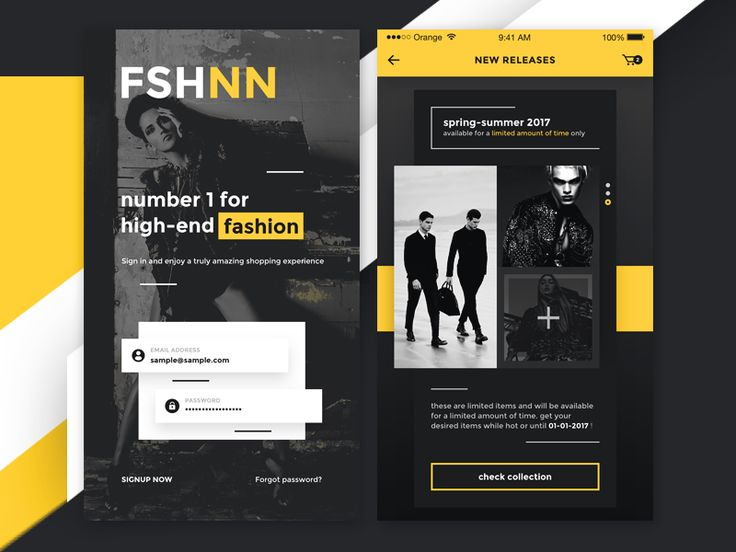 FSHNN - iOS High-end fashion shopping by Robert Berki #Design Popular #Dribbble #shots