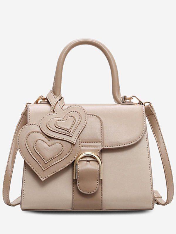 Square Leather Heart Shape Design Handbag Leather Handbags Used Designer Handbags Leather