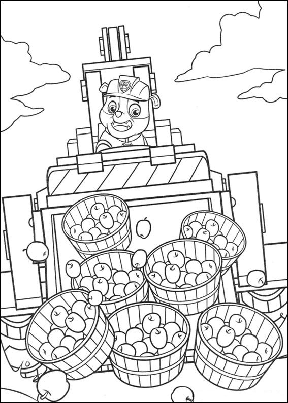 Paw Patrol Coloring Pages Rubble Vehicle Paw Patrol Coloring Paw Patrol Coloring Pages Coloring Books