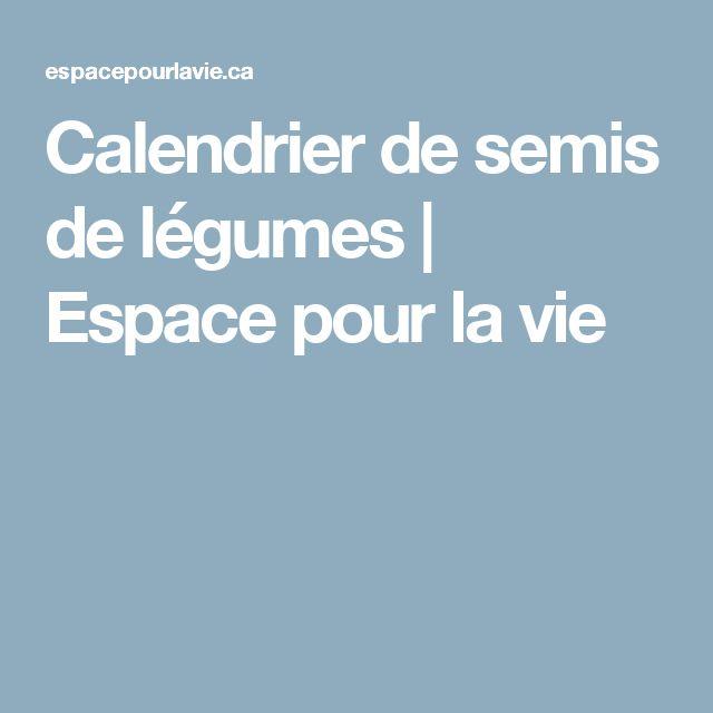 1000 ideas about calendrier des semis on pinterest - Calendrier de plantation de legumes ...