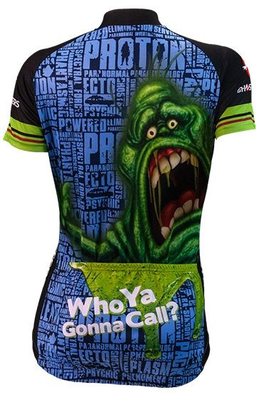 Ghostbusters Women's Cycling Jersey - Back View - FREE shipping in the US at http://www.cyclegarb.com/brainstorm-gear.html