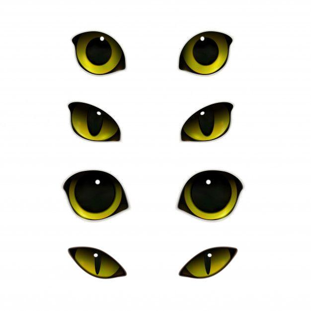 Scarica Gratis Set Realistico Di Occhi Di Gatti Cat Eyes Drawing Cat Eye Tattoos Eye Illustration