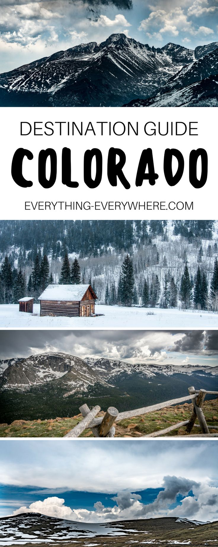 The ultimate guide to visiting Colorado, a state known for its alpine destinations such as the Rocky Mountains. Tips for visiting during winter or summer + practical information for your trip. Travel in the USA. | Everything Everywhere Destination Guide