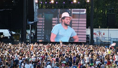Schoolboy Q on the big screen at the Tantalus Stage