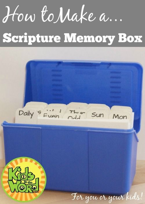How to Make a Scripture Memory Box - For you or your kids!