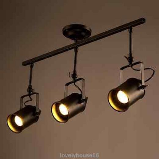 Vintage Industrial Black Metal Cylinder Shade Led Spotlight Ceiling Lamp Fixture Rustic,industrial Loft E27/e26 5w No 1,2,3,4 ,geometric