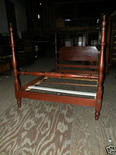 Mahogany Full Queen Size Four Poster Bed By Kling