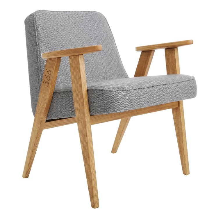 366 easychair in Grey - TWEED collection.