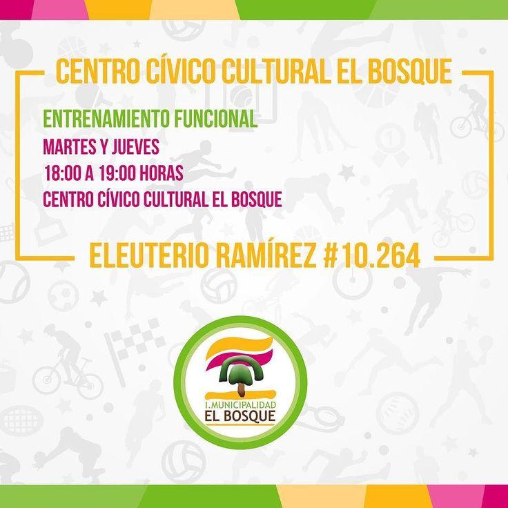 Talleres deportivos en el Centro Cívico Cultural de El Bosque. Más información al fono 225271698