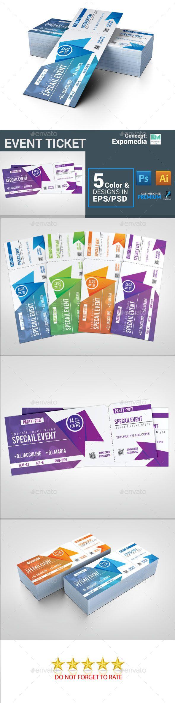 25 best Ticket Templates images on Pinterest   Font logo, Print ...