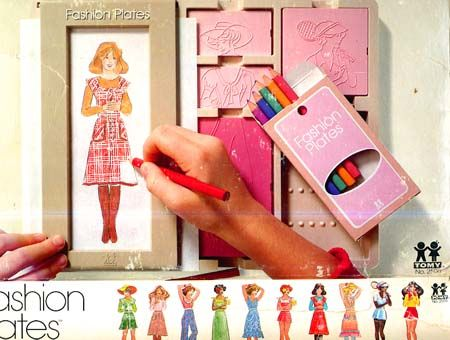 Barbie Fashion Plates my sister had these and i loved them