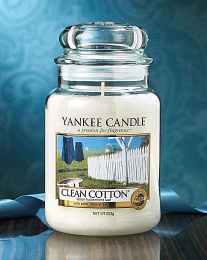 Yankee Candle Clean Cotton Large Jar,   this scent works really nice in a guest Bathroom!