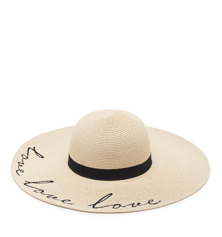 Lola Love Embroidered Hat Natural - Womens Fashion | Forever New