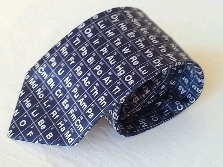 Periodic Table Mens Neck Tie Science Chemistry Graduation Teacher Gift Dad Navy  in Clothing, Shoes, Accessories, Men's Accessories, Ties   eBay!