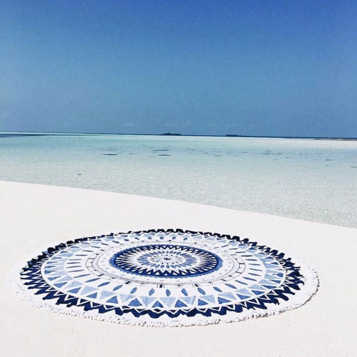 Shop the Majorelle Roundie! The perfect beach accessory.