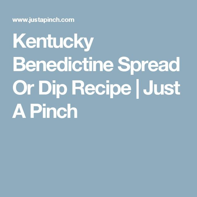 Kentucky Benedictine Spread Or Dip Recipe | Just A Pinch