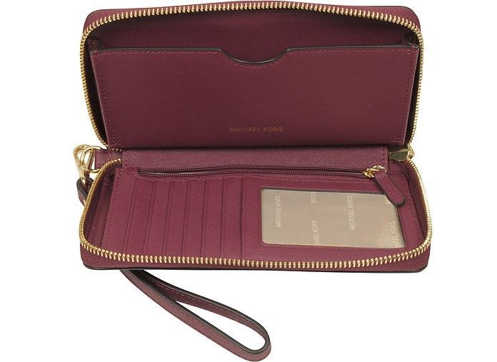 fc53469df5f3 New Arrivals: Michael Kors - Jet Set Travel Large Mulberry Saffiano Leather  Phone Case