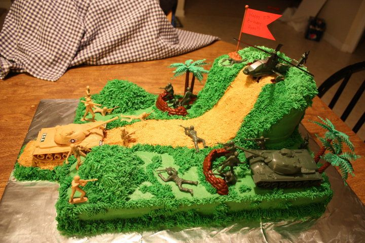 Army Cake - 5th birthday cake for a friends son.  He loved it!!