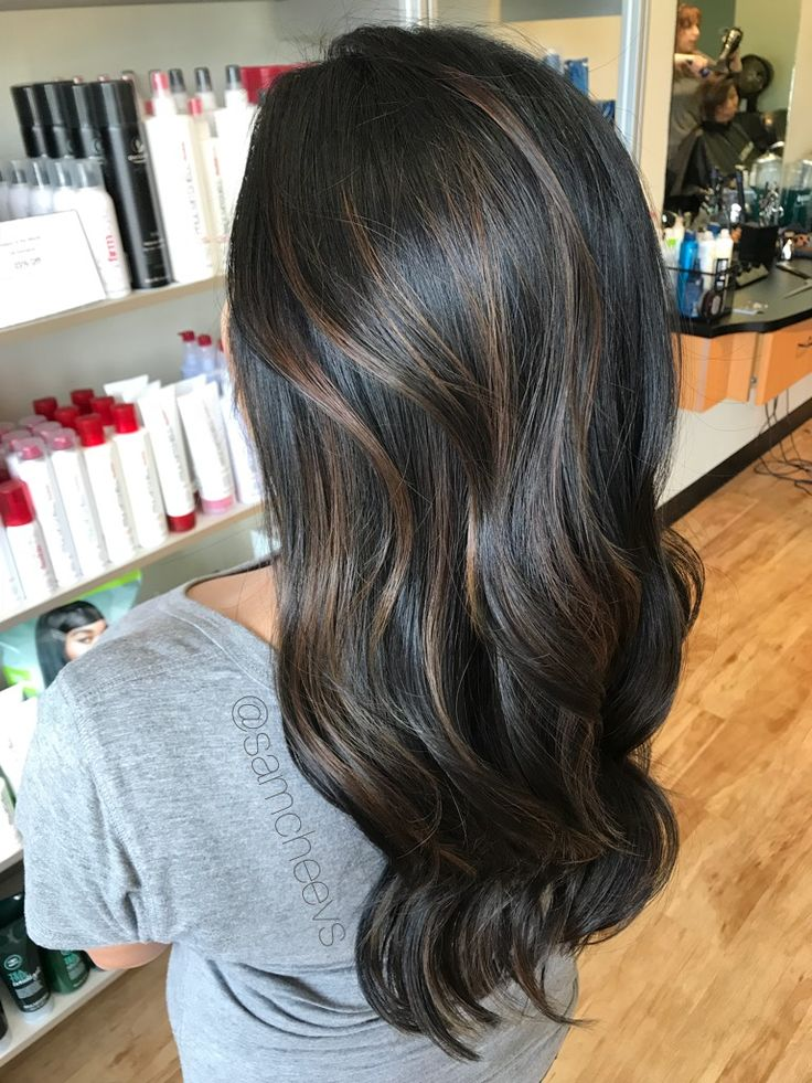 Hair Styles And Hair Color For Long Black And Dark Brown
