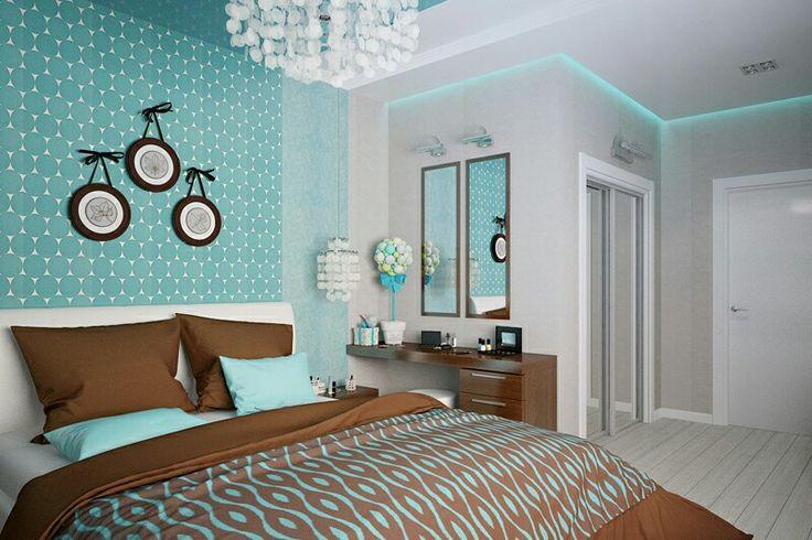 Бирюзовые и коричневые тона в спальной создают необычайную атмосферу. Коричневые оттенки дают теплоту, а голубые наоборот прохладу и чувство свежего морского бриза. В такой спальне всегда будет легко отдыхать. Дизайн спальни разработан студией EEDS #eeds #designinterior #designstudio #designerinterior #interiordesigner #interiors #bedroom #interiordesign #homedecor #decor #homedesign #дизайнинтерьерамосква #дизайнпроект #интерьер #спальня