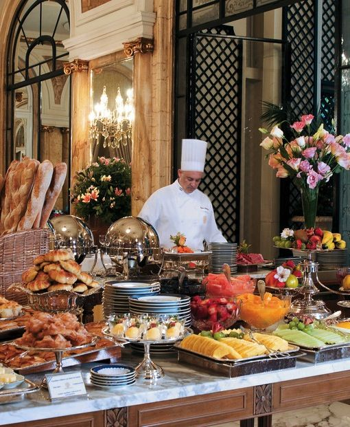 A breakfast set Alvear Palace Hotel in Buenos Aires, #Argentina/ Desayuno Continental