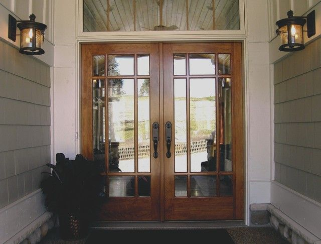 1000 images about ideas for the front doors on pinterest for Double wood doors with glass