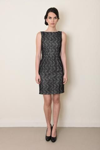 """Mia in Black"""": Black lace cocktail dress. Modern chic wedding guest inspo. Wedding guest outfit."""