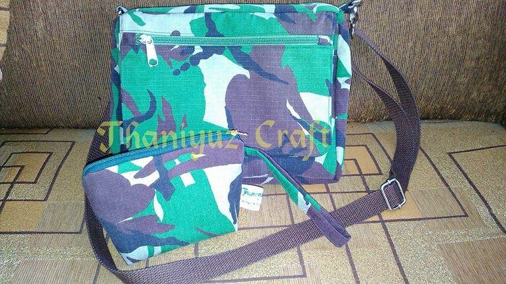 Sling Bag dan Pouch motif Doreng