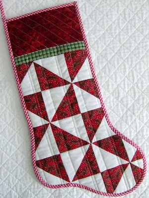 QuiltBee: patchwork Christmas stocking - so happy with how this one turned out - I need to make more