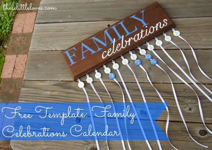 11 best images about birthday plaques on pinterest for Family birthday calendar template