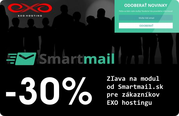 EXO hosting prináša zľavu na Smartmail.sk