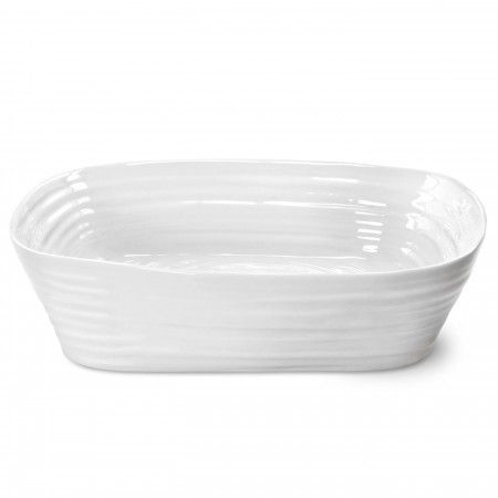 Sophie Conran White Rectangular Roasting Dish s great to cook and serve lasagnes, pies and meat and vegetables. 29.5 x 24cm (11.5 x 9.4 inch). Product Code: CPW76810.  Herma's price: $50.00. To order call 905·885·9250. (Prices subject to change without notice)