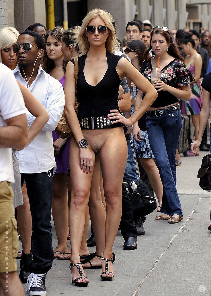 women wearing no panties in public