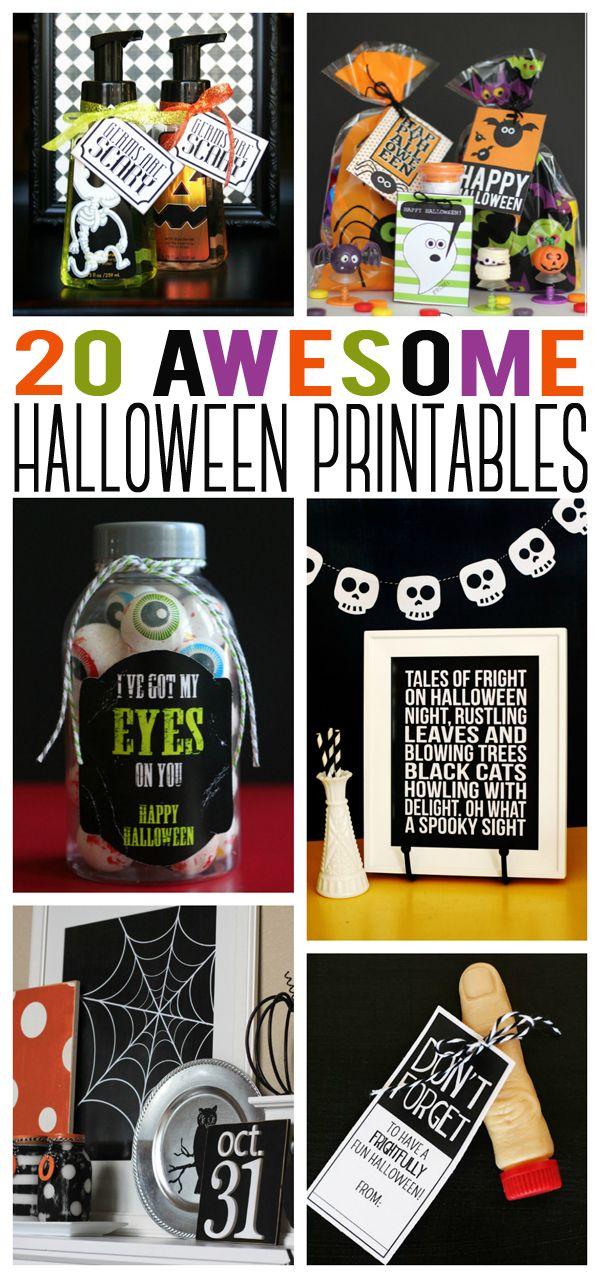eighteen25: 20 Awesome Halloween Printables