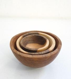 Olivewood Nesting Bowls