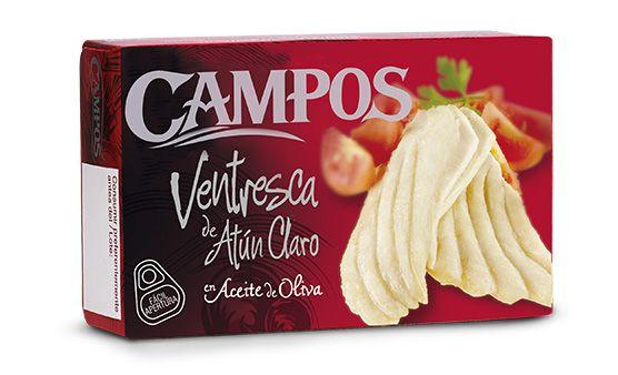 Ventresca de Atún Claro Campos en Aceite de Oliva, todo un capricho para tu paladar.