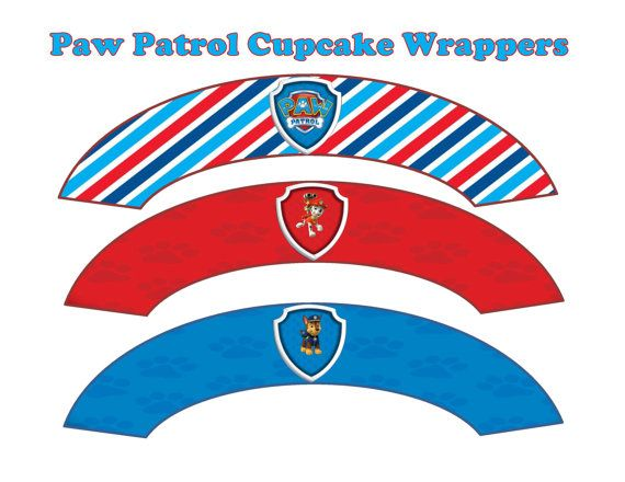 Paw Patrol Cupcake Wrappers INSTANT DOWNLOAD by ATimeToRememberDPK