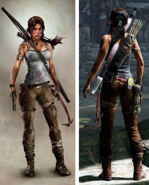 Figurino Tomb Raider filme e game , Lara croft trança (Angelina Jolie)