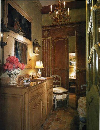Country French Powder Rooms And French Antiques On Pinterest