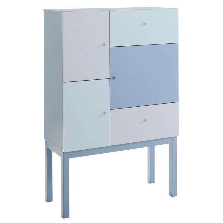 Rangement bleu pastel dégradéPrix : 360€