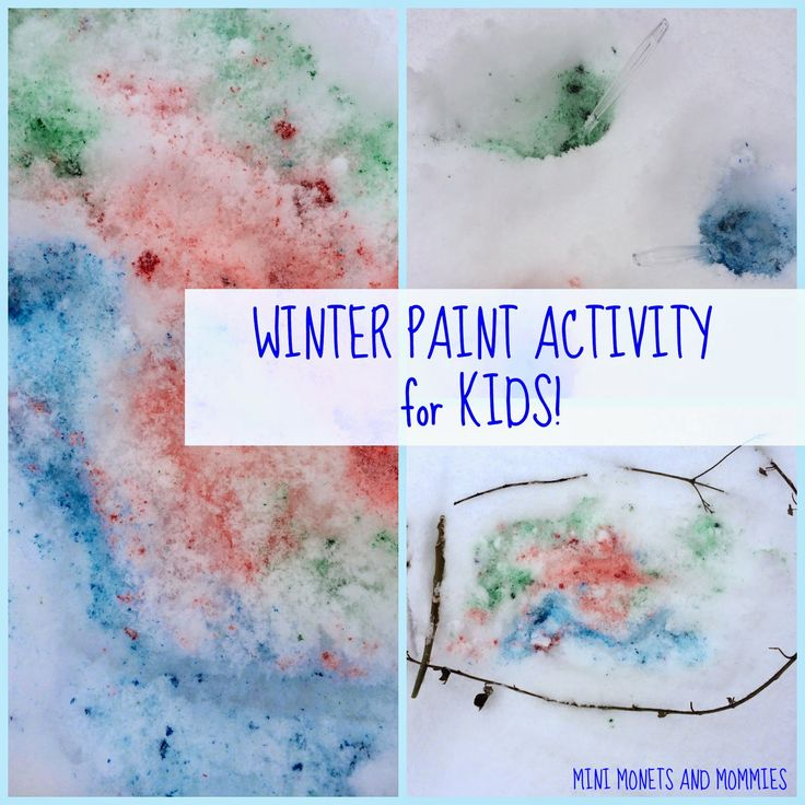 Kids' winter art activity- snow paint!