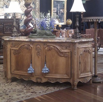 French Walnut Sideboard with four doors and two drawers