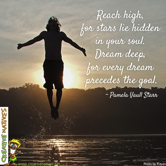 "Another beautiful Monday :0) Let's make it count ... ""Reach high, for stars lie hidden in your soul. Dream deep, for every dream precedes the goal."" – Pamela Vaull Starr www.creativenatives.net (Photo by R'eyes http://www.flickr.com/photos/grrphoto/)"