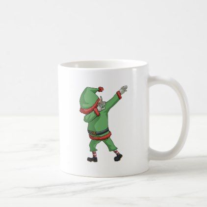 #Dab Santa Elf Funny Novelty Christmas Gift Items Coffee Mug - diy cyo customize personalize design