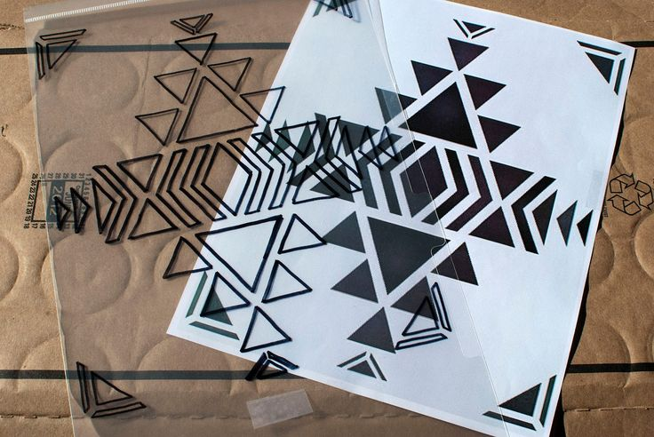 aztec stencil basic design printable - Google Search
